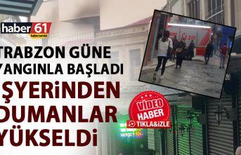 Trabzon güne yangınla uyandı! Tekstil imalathanesinden...