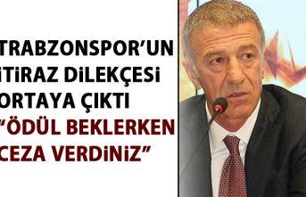 Trabzonspor'un TFF'ye itiraz dilekçesi...