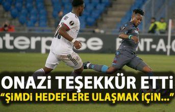 Trabzonspor'un yıldızı Onazi'den teşekkür...