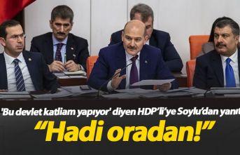 Soylu'dan HDP'li vekile yanıt: Hadi oradan