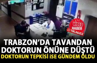 Trabzon hastane tavanından düşen işçiyi gören...