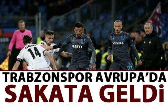 Trabzonspor Avrupa'da sakata geldi