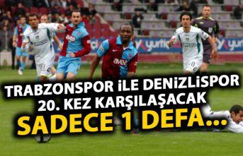 Trabzonspor ile Denizlispor 20. kez! Sadece 1 defa...