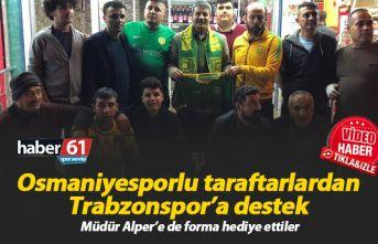 Osmaniyesporlu taraftarlardan Trabzonspor'a destek