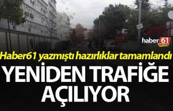 Trabzon'da o yol yeniden trafiğe açılıyor...