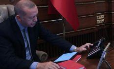 Cumhurbaşkanı Erdoğan, Ruhani ve Salih ile görüştü