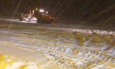 Sivas-Giresun yolu yoğun kar altında