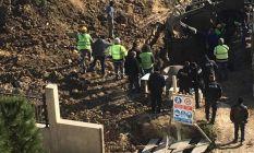 Lüleburgaz'da hastane inşaatında toprak kayması
