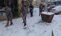 Bayburt Belediyesi'nden karla mücadele çalışması