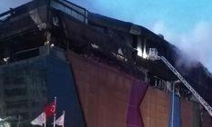 Kocaeli'deki AVM yangınında büyük hasar!