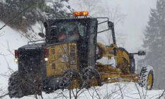 Karadeniz'de karla mücadele