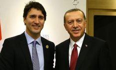 Cumhurbaşkanı Erdoğan, Kanada Başbakanı Trudeau...