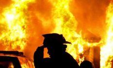 Samsun'da ev yangını!