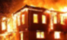 Terme'de soba evi yaktı