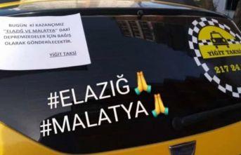 Giresun'da taksi durağından örnek davranış