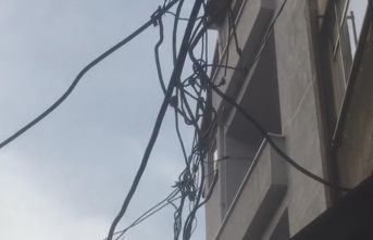 Trabzon'da esnaftan elektrik hattı tepkisi