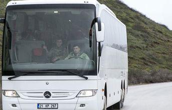 Otobüslerle gidiyorlar! Takviye yapıldı