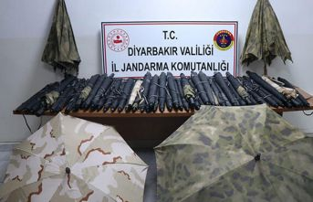 PKK'lıların, İHA'lardan gizlenmek için kullandıkları 364 termal şemsiye ele geçirildi