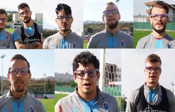 Trabzonsporlu futbolcular gözlükleri taktı ve destek...