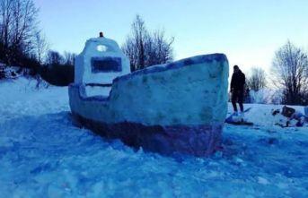 Kardan gemi yaptı