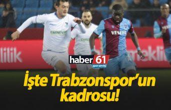 Trabzonspor'un Erzurum 11'i açıklandı