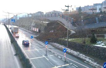Trabzon'da faciadan dönüldü – Yol kenarındaki...
