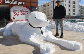 Kardan kangal yaptılar
