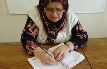 70 yaşında okuma yazma öğrendi! Kitap yazıyor