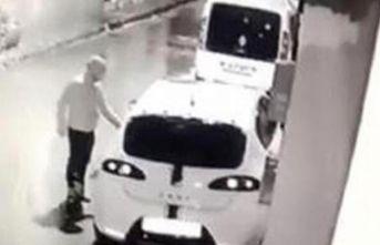 15 saniyede hırsızlık güvenlik kamerasında