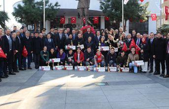 Akçaabat'ın 102. kurtuluş yıl dönümü kutlandı