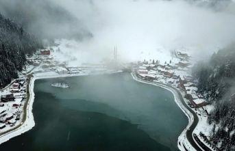 Beyaza bürünen Türkiye havadan görüntülendi - Uzungöl, Sümela ve daha fazlası...