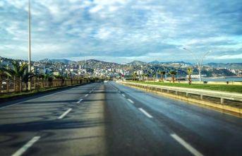 Trabzon Beşirli'de yol çalışması