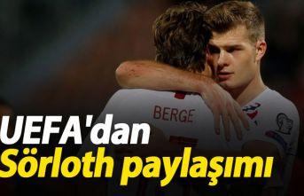 UEFA'dan Sörloth paylaşımı