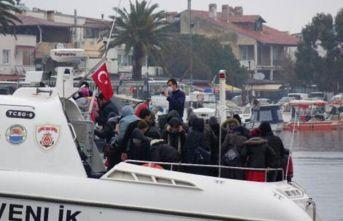 Ayvacık açıklarında, 37 kaçak göçmen yakalandı