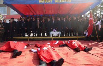 Bayburt'ta kurtuluş mücadelesi canlandırıldı