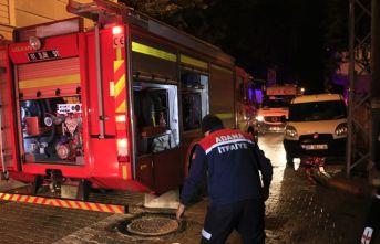 Müstakil evde elektrikli sobadan yangın çıktı