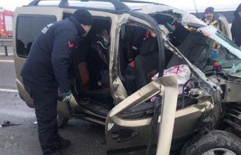 Sivas'ta tarfik kazası: 5 yaralı
