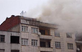 Rize'de yangın paniği
