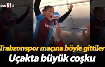 Trabzonspor maçına giderken uçağı tribüne çevirdiler
