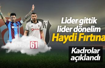 Trabzonspor'un Beşiktaş kadrosu açıklandı