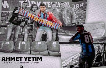 Trabzonspor'dan hayatını kaybeden taraftar...