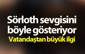 Trabzonspor taraftarlarının Sörloth sevgisi