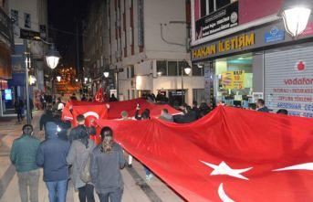 Fatsa'da şehitler için yürüdüler