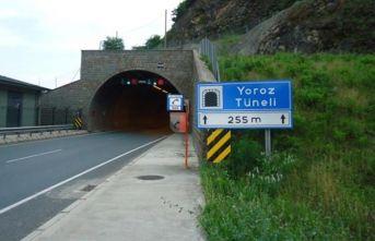 Trabzon'da Yoroz tünelinde çalışma