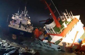 Tuzla'da iki gemi çarpıştı! Batma tehlikesi var