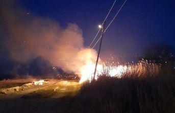 Sinop'ta otluk alanında yangın