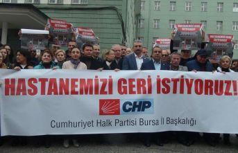 Bursalılar Devlet Hastanesi'ni geri istiyor