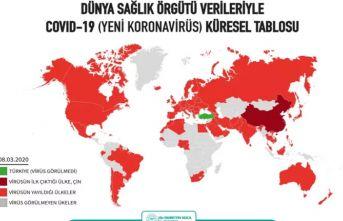 İşte koronavirüs haritası