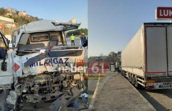 Trabzon'da tüp yüklü kamyon faciaya neden oluyordu!...