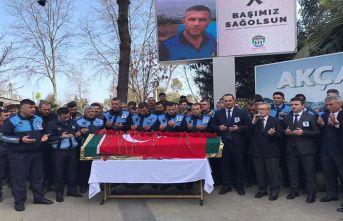 Trabzon'da zabıta memuruna son görev